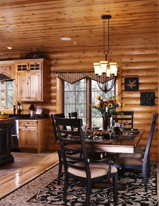 Pin By Brittany Baxter On Cabin Design Log Home Living Log Homes Log Cabin Interior