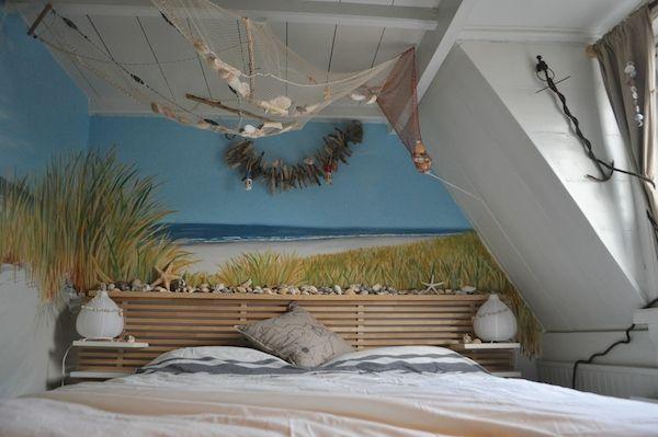 muurschildering strand zee en duinen miranda maakt het mooi huisstijlen slaapkamers muurschilderingen