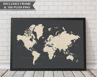 18x24 world push pin map with frame 100 push pins travel map 18x24 world push pin map with frame 100 push pins travel map map gumiabroncs Image collections