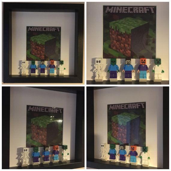 Minecraft Minifigure Frame Mum Gift Geek Box By