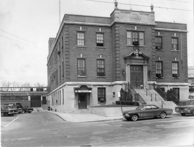 London police station on King Street, 1966. (London Free Press files)