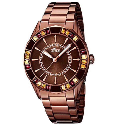Lotus 15894 3 Vanesse Uhr Damenuhr Edelstahl 50m Analog Bronze Zirkonia Watches Rolex Watches Trendy Collection