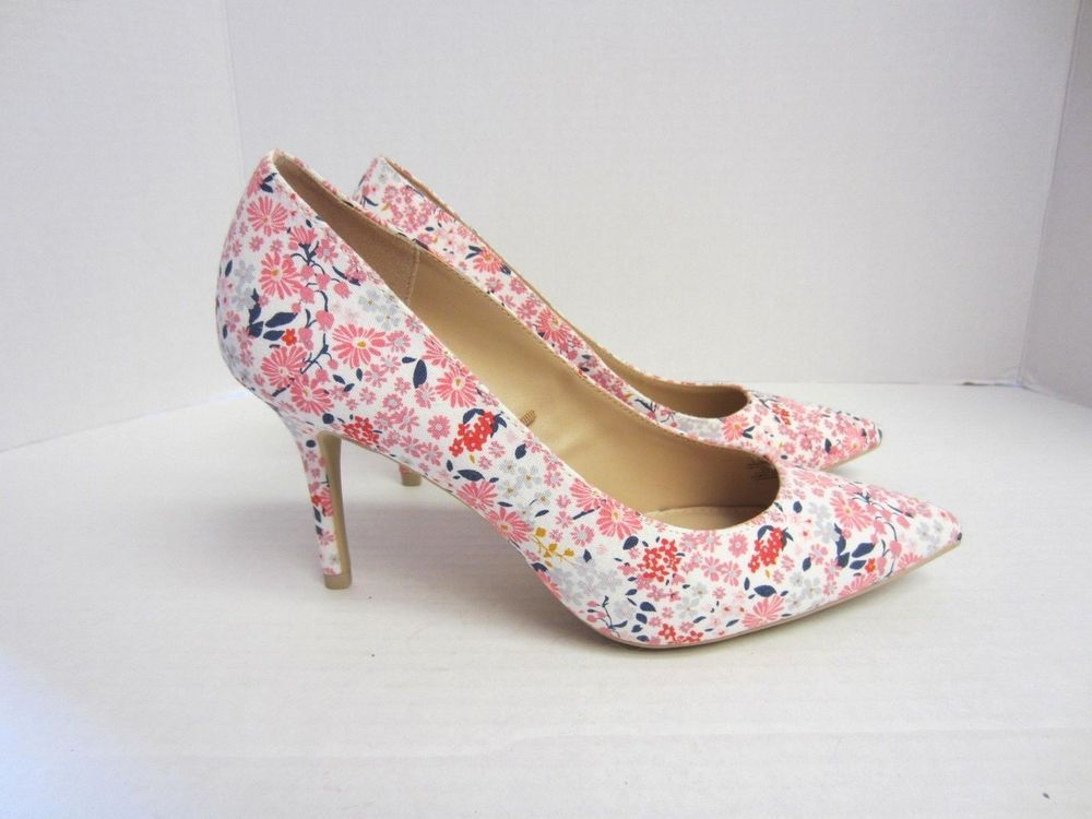 Old Navy Shoes 8 Pink Floral Coral