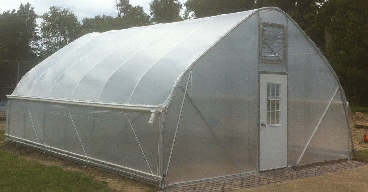 Greenhouse Hoop House Gothic Arch DIY Kit Galvanized Steel 20 ft x ...