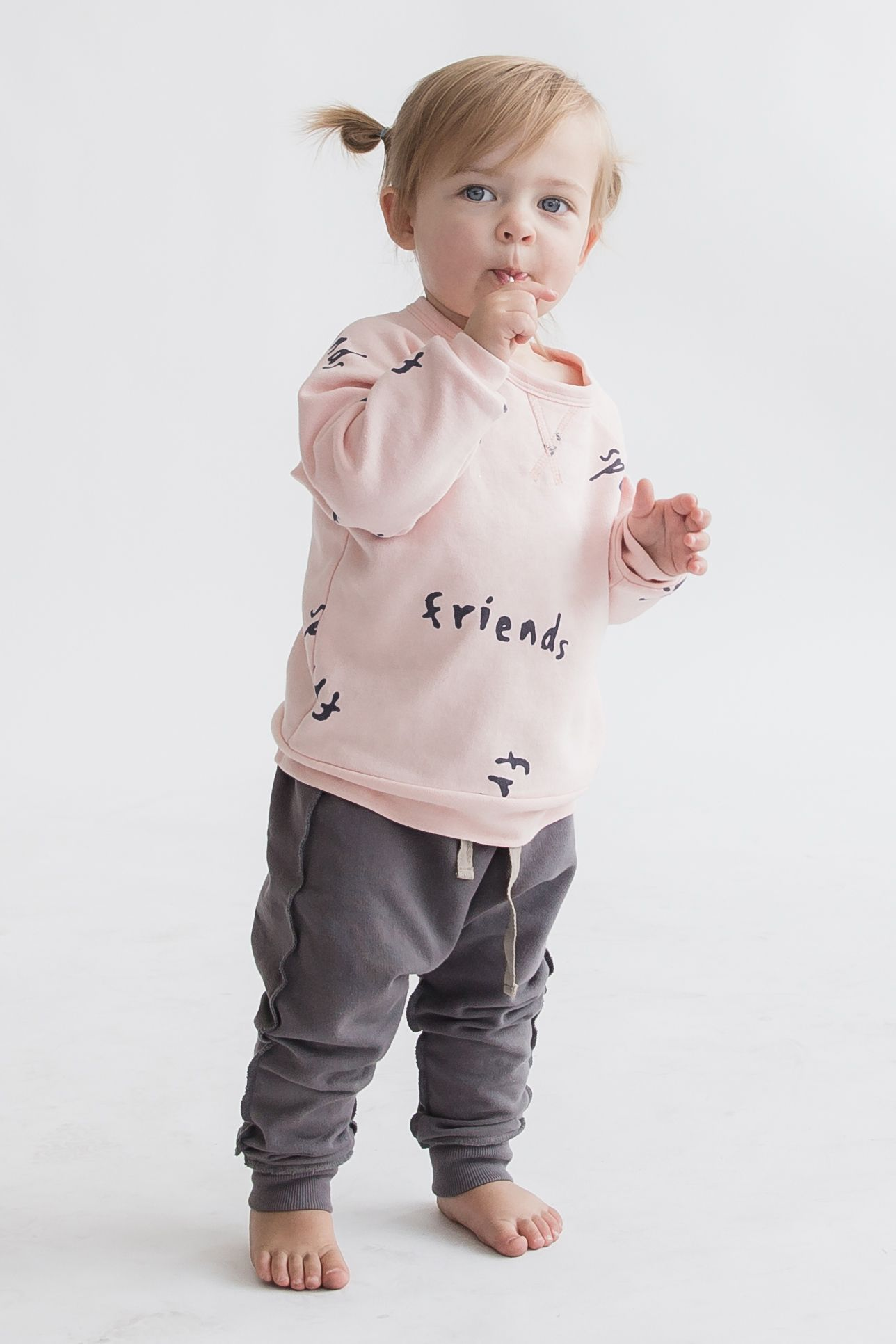 Let s be friends This adorable modern baby and kids sweatshirt is