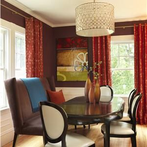 Transitional (Eclectic) Dining Room