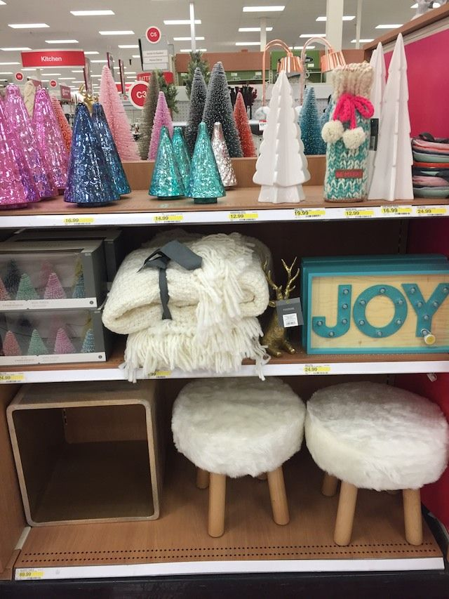 see in store pics of the new christmas decor at target