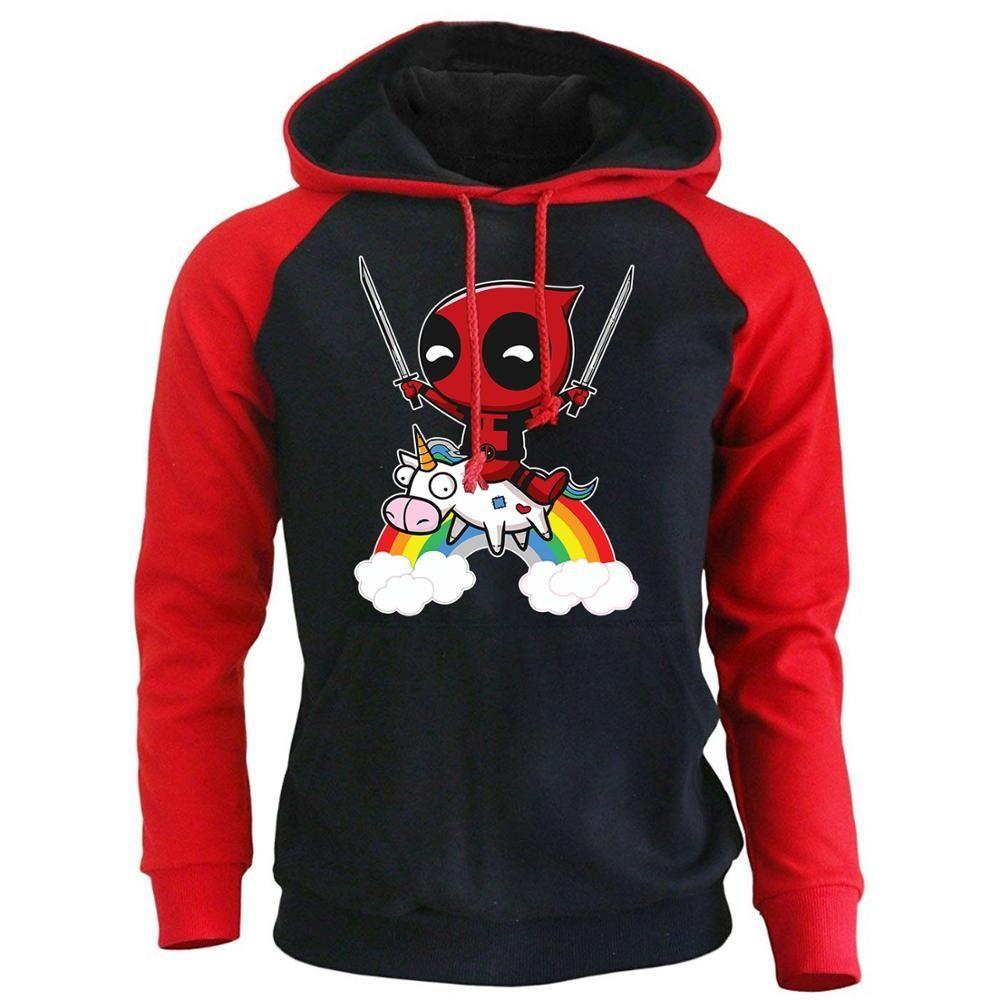 mínimo Facilitar Frente a ti  DEADPOOL Cartoon Funny Hoodies For Men 2018 Autumn Winter Raglan Sleeve  Sweatshirt Hip Hop Men's Hoodie Brand Tracksuit Hoody | Sudaderas chica,  Sudaderas con capucha, Manga raglan