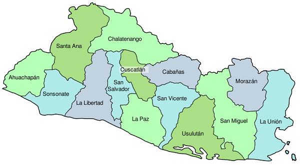 Resultado De Imagen Para Mapa De El Salvador San Salvador Salvador El Salvador