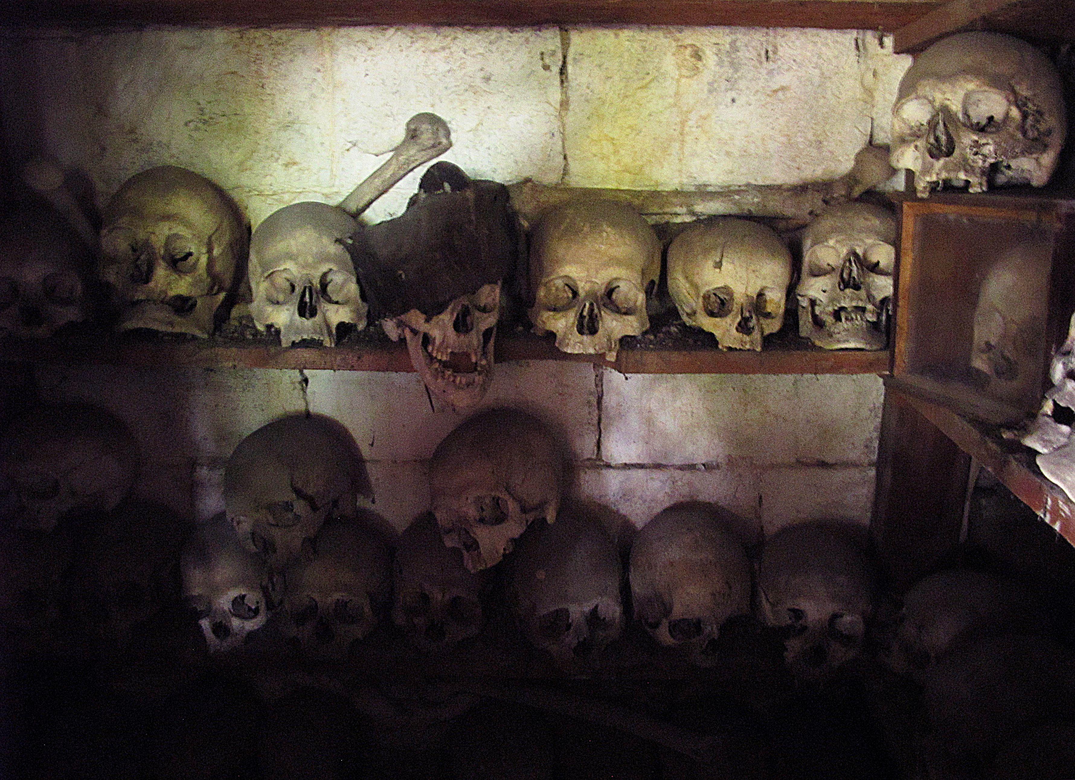 Church crypt, Torno, Italy.  Photo by Susan Pogany.