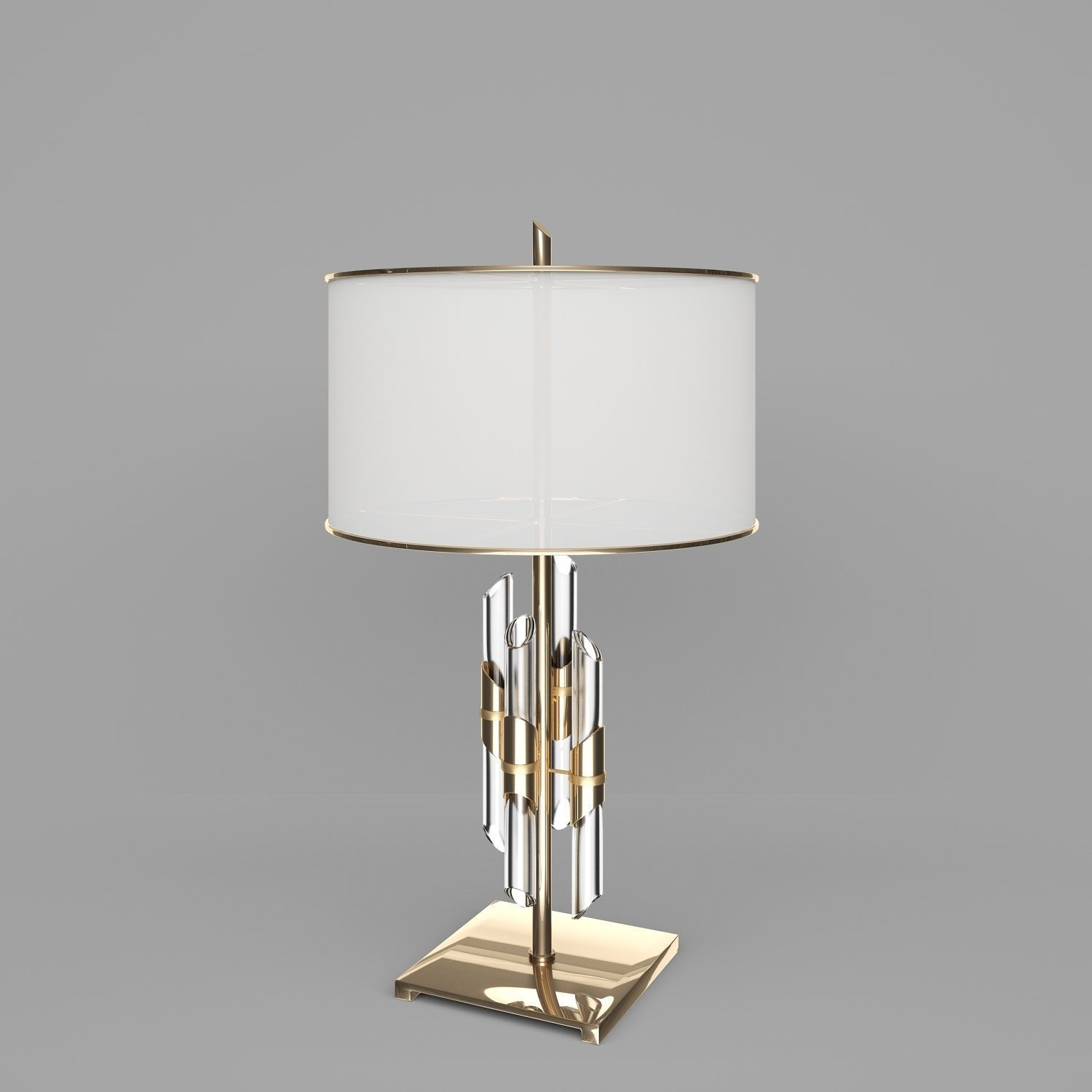 Brass And Crystal Rod Table Lamp 3d Model In 2020 Table Lamp Lamp Modern Kitchen Interiors