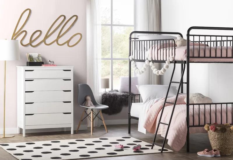 Ailish Twin Bunk Bed in 2020   Modern kids bedroom, Bunk ...