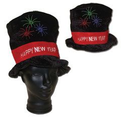 Happy New Year Velour Top Hat from Windy City Novelties