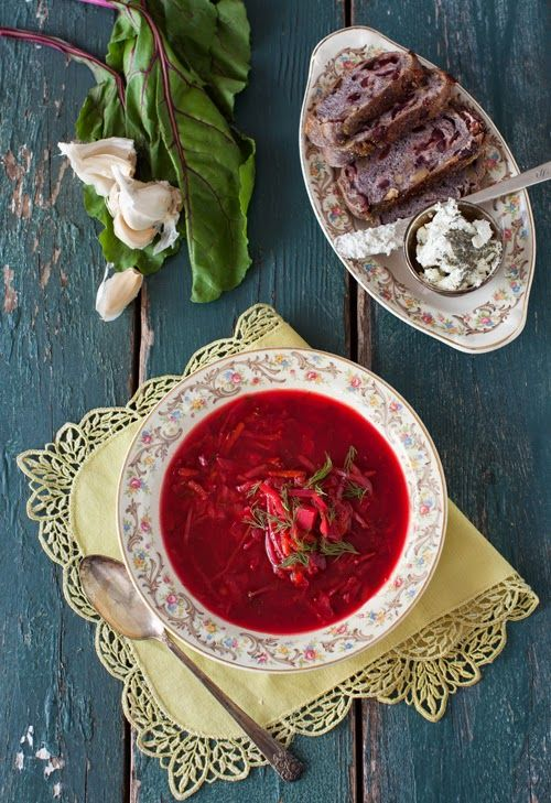 Russian Monday: Vegetarian Borscht at Cooking Melangery