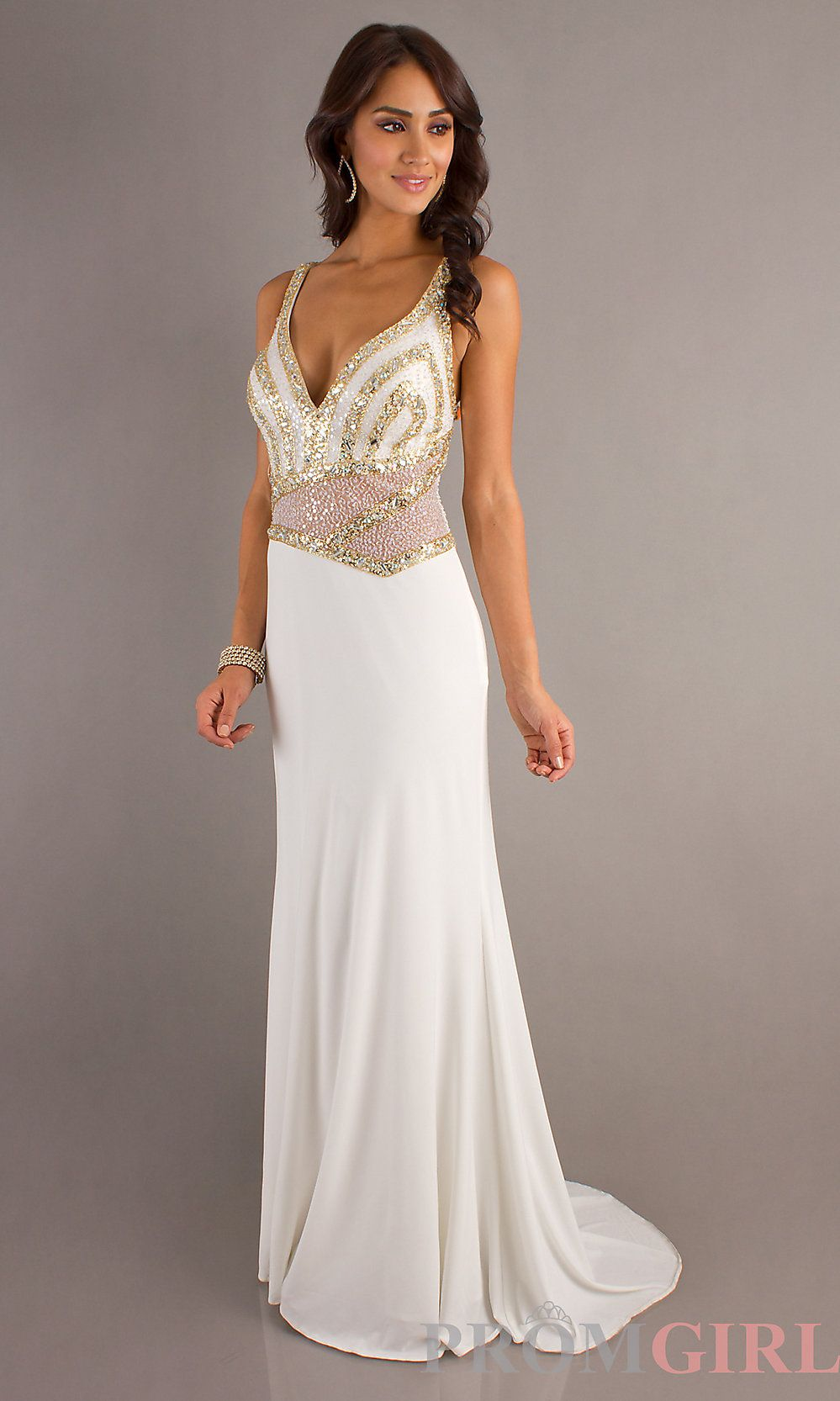 IVORY EVENING GOWN BY DAVE AND JOHNNY   Evening Gowns   Pinterest ...