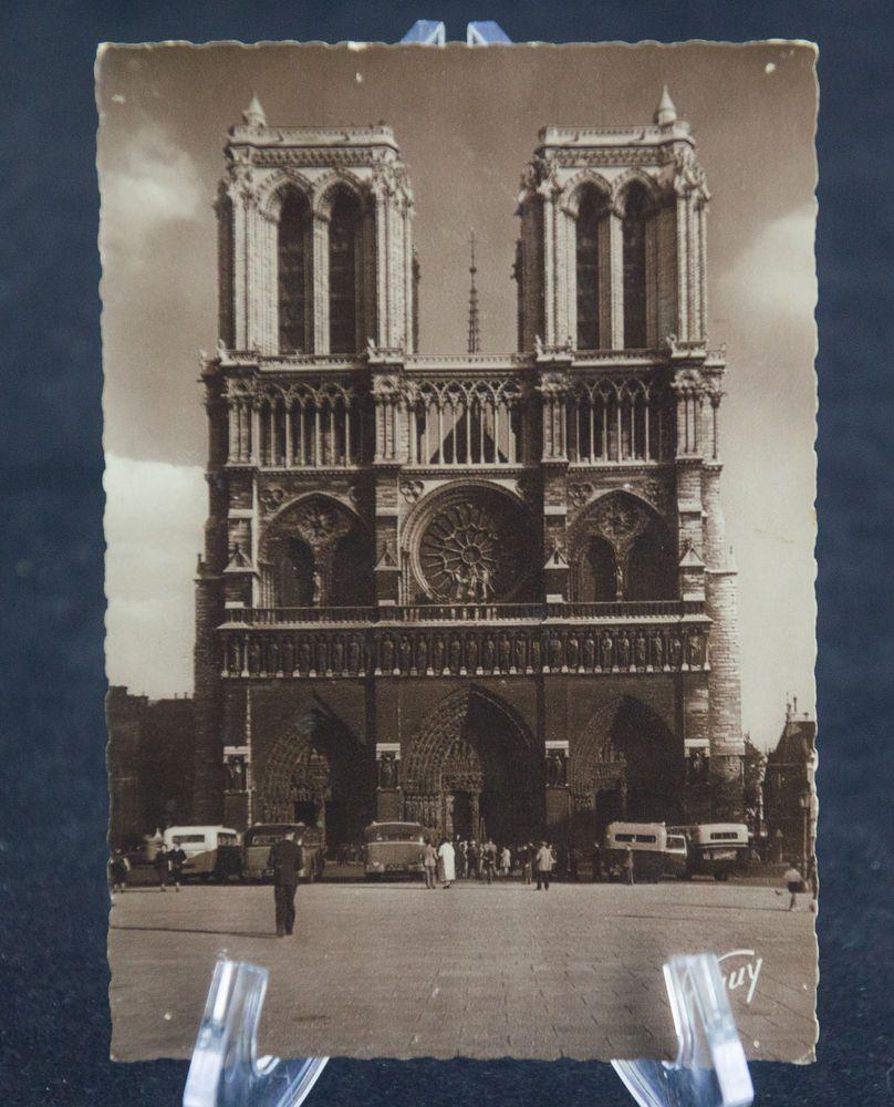 Postcard Paris France Rppc Cathedrale Notre Dame B W Sepia