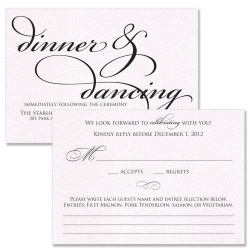 Reception And RSVP Cards