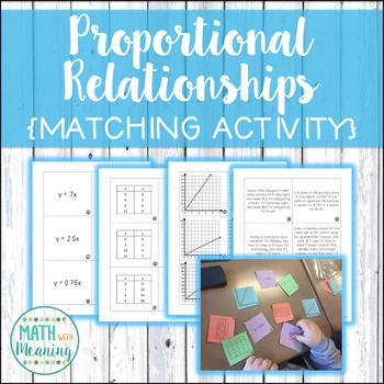 Proportional Relationships Constant Of Proportionality Matching