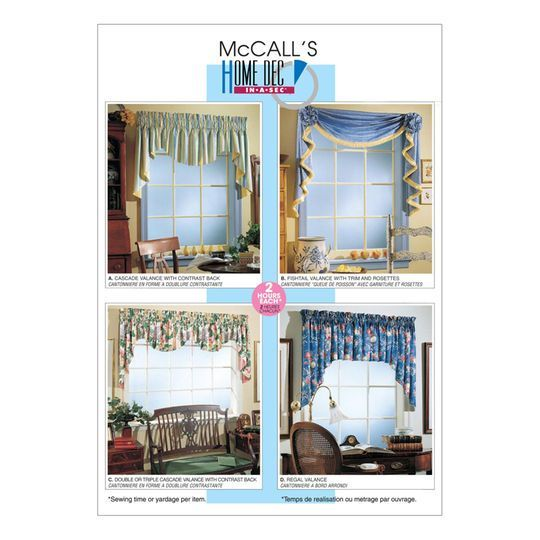 Mccall S Pattern M3089 All Sizes Mccalls Sewing Patterns Valance Patterns Mccalls Patterns
