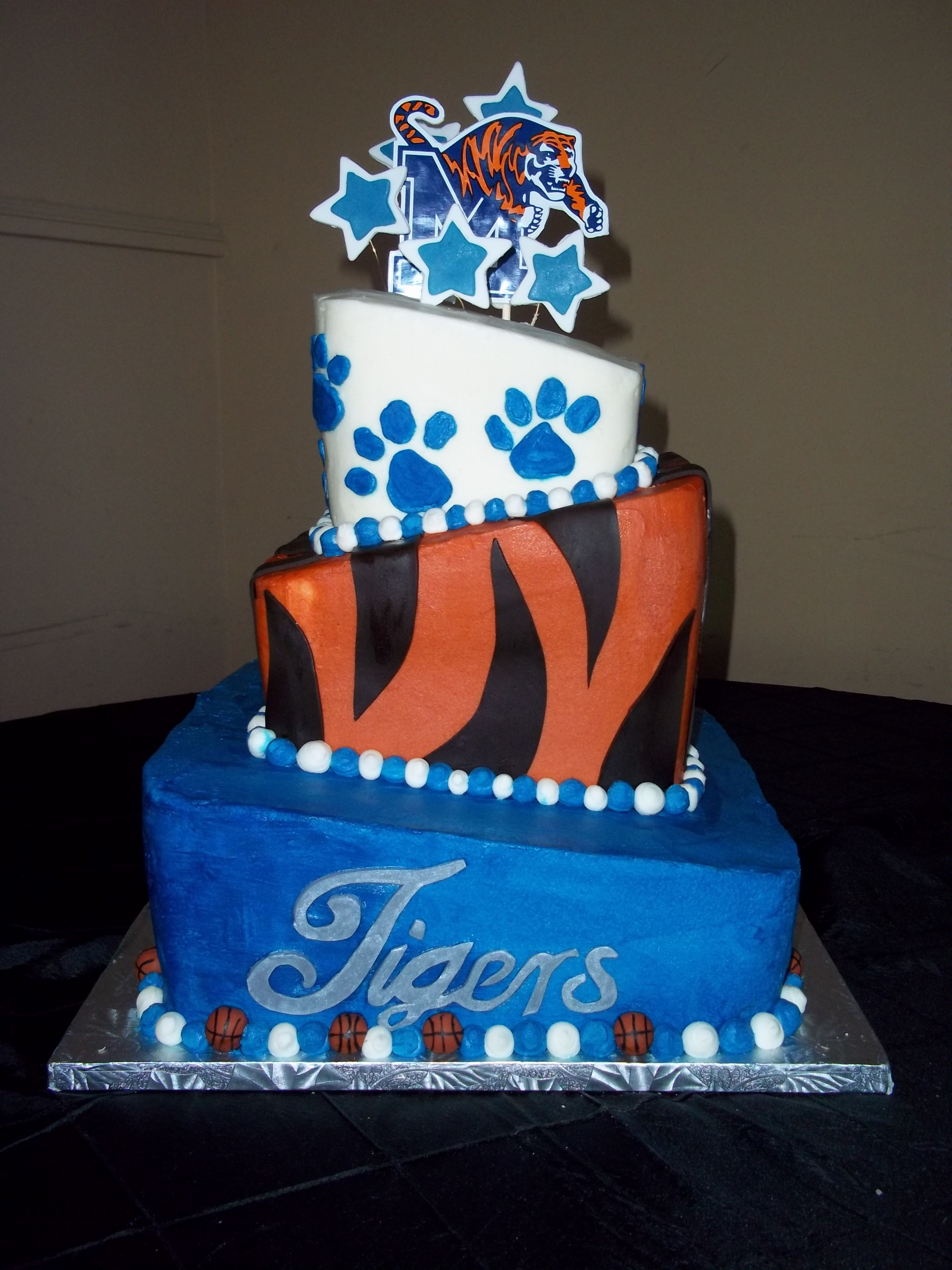 Fabulous Grooms Cake Memphis Tigers With Images Custom Cakes Bakery Funny Birthday Cards Online Overcheapnameinfo