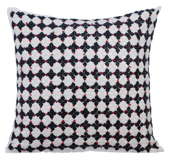 16x16 Handmade White Throw Pillow Cover Art Silk Etsy White Throw Pillow Covers Decorative Throw Pillow Covers Silk Pillow Cover