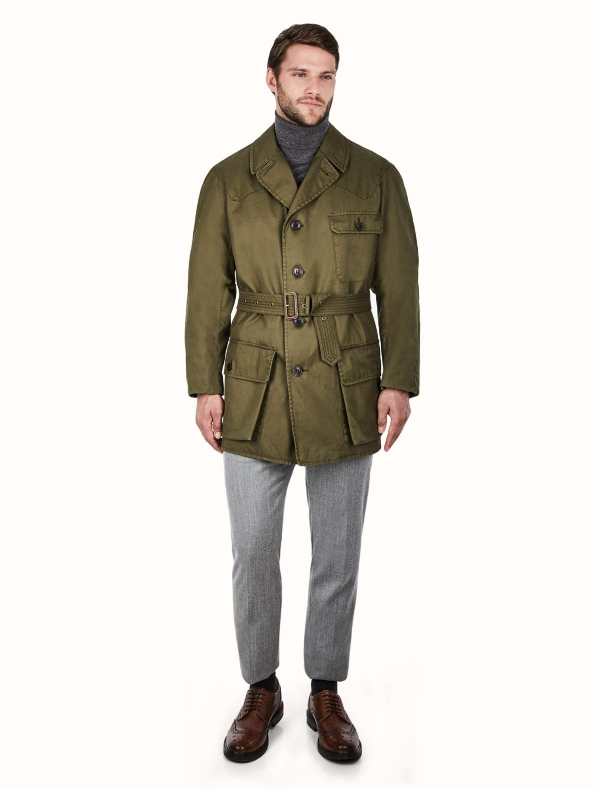 594598edfbf9e Shooter for Cordings Piccadilly Grenfell Cloth in Laundered Green in ...