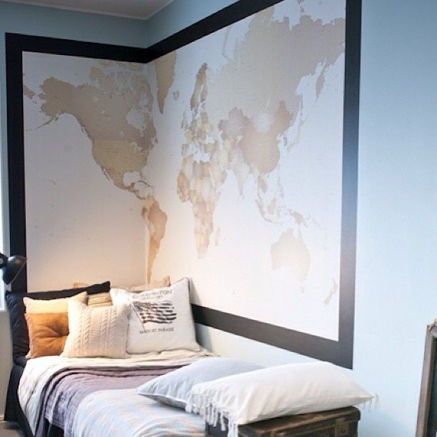 guest room, guests can pin where they're from