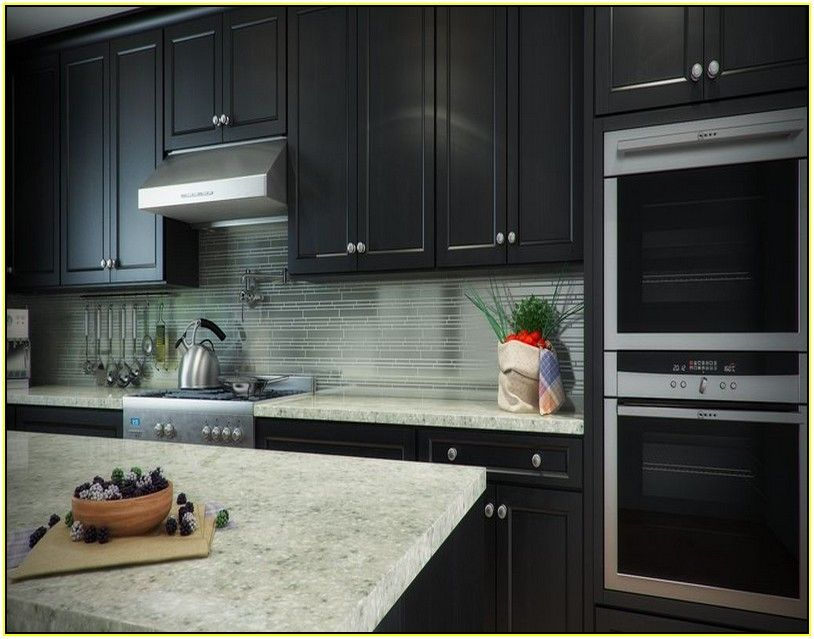 dark cabinet backsplash ideas