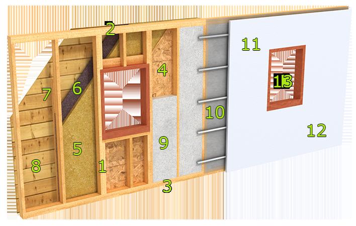 notre syst me constructif maison bois vallery le complexe de toiture est donc constitu de. Black Bedroom Furniture Sets. Home Design Ideas