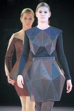 Irina Shaposhnikova Designer Geometric Fashion Structured Fashion Fashion Design