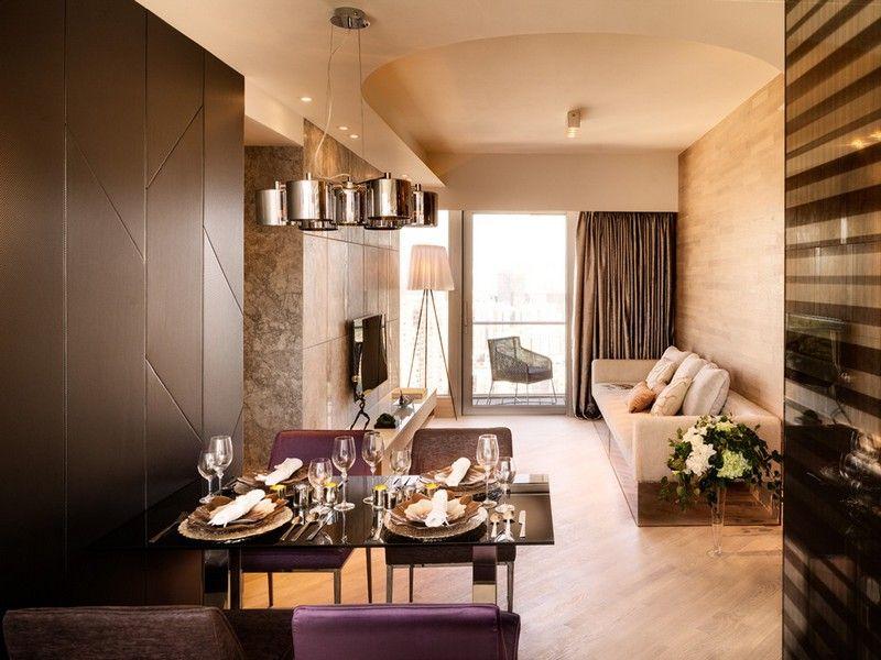 Wohnzimmer in Braun und Beige einrichten \u2013 55 Wohnideen Pinterest
