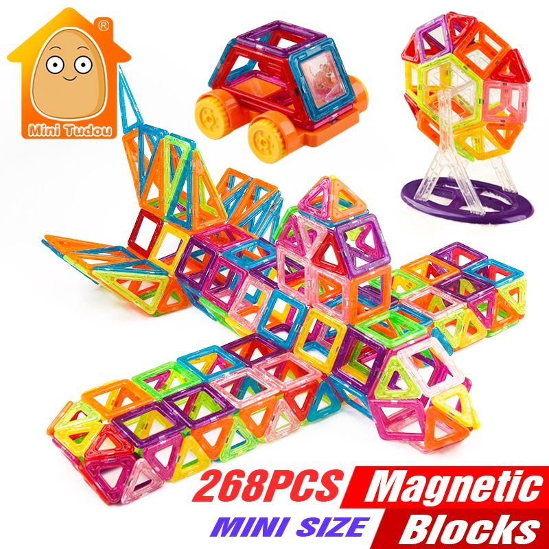 Desire deluxe set of magnetic blocks and bricks construction toy