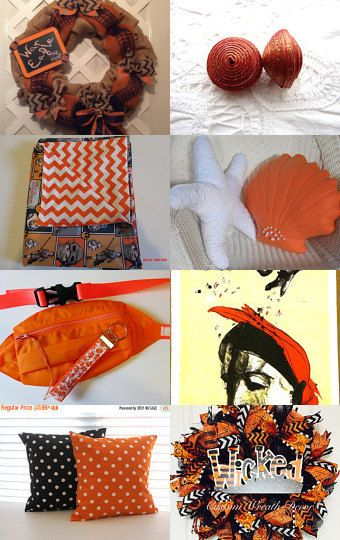 10 Shades of ORANGE by D'LaGrace on Etsy--Pinned with TreasuryPin.com