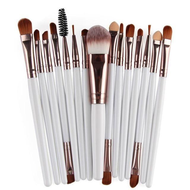 Photo of MAANGE 6/15/18/20Pcs Makeup Brushes Tool Set Cosmetic Powder Eye Shadow Foundation Blush Blending Beauty Make Up Brush Maquiagem – 15pcs BK / China