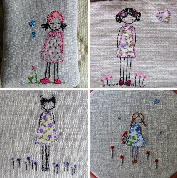 :) hand-embroidery