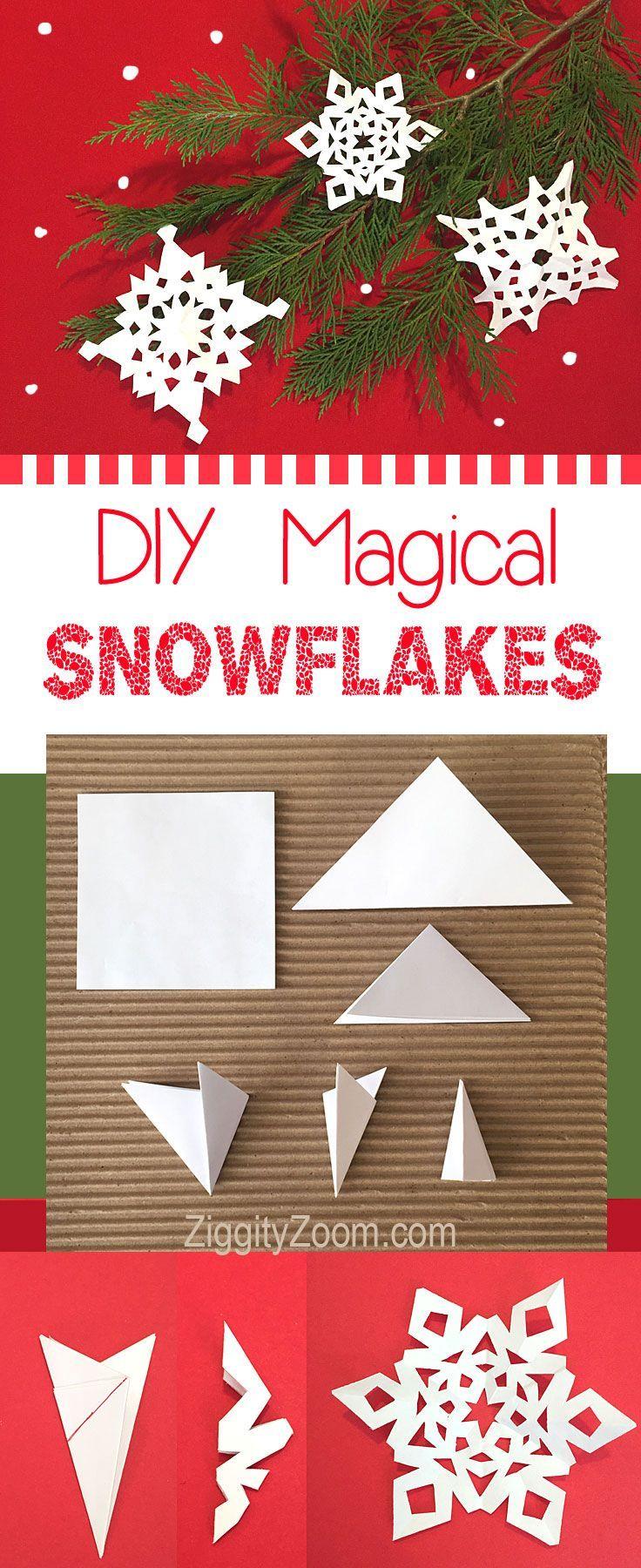 Diy Paper Snowflakes Tutorial Ziggity Zoom Family Paper Snowflakes Diy Paper Decorations Diy Snowflakes For Kids