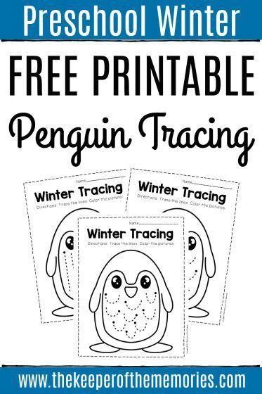 Free Printable Tracing Winter Preschool Worksheets