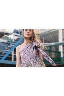 721f1215ec062 Anna October - Floral One Shoulder Silk Top - THEODIVO.COM