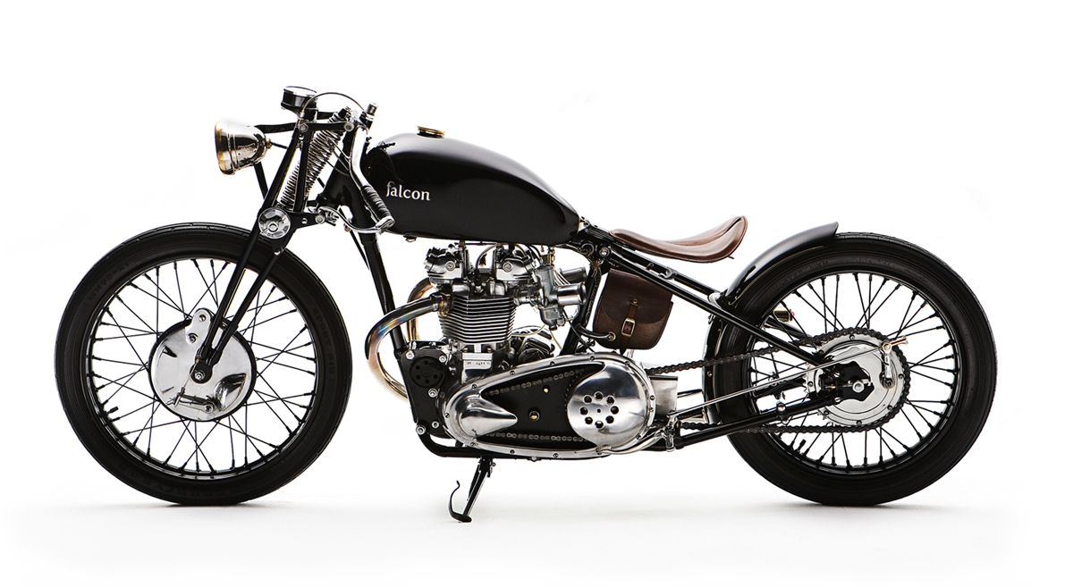 board track racer. The bullet! A 1950 triumph thunderbird by Ian Barry at falcon motors.