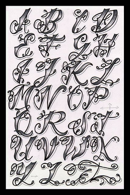 Cholo Tattoo Alphabet