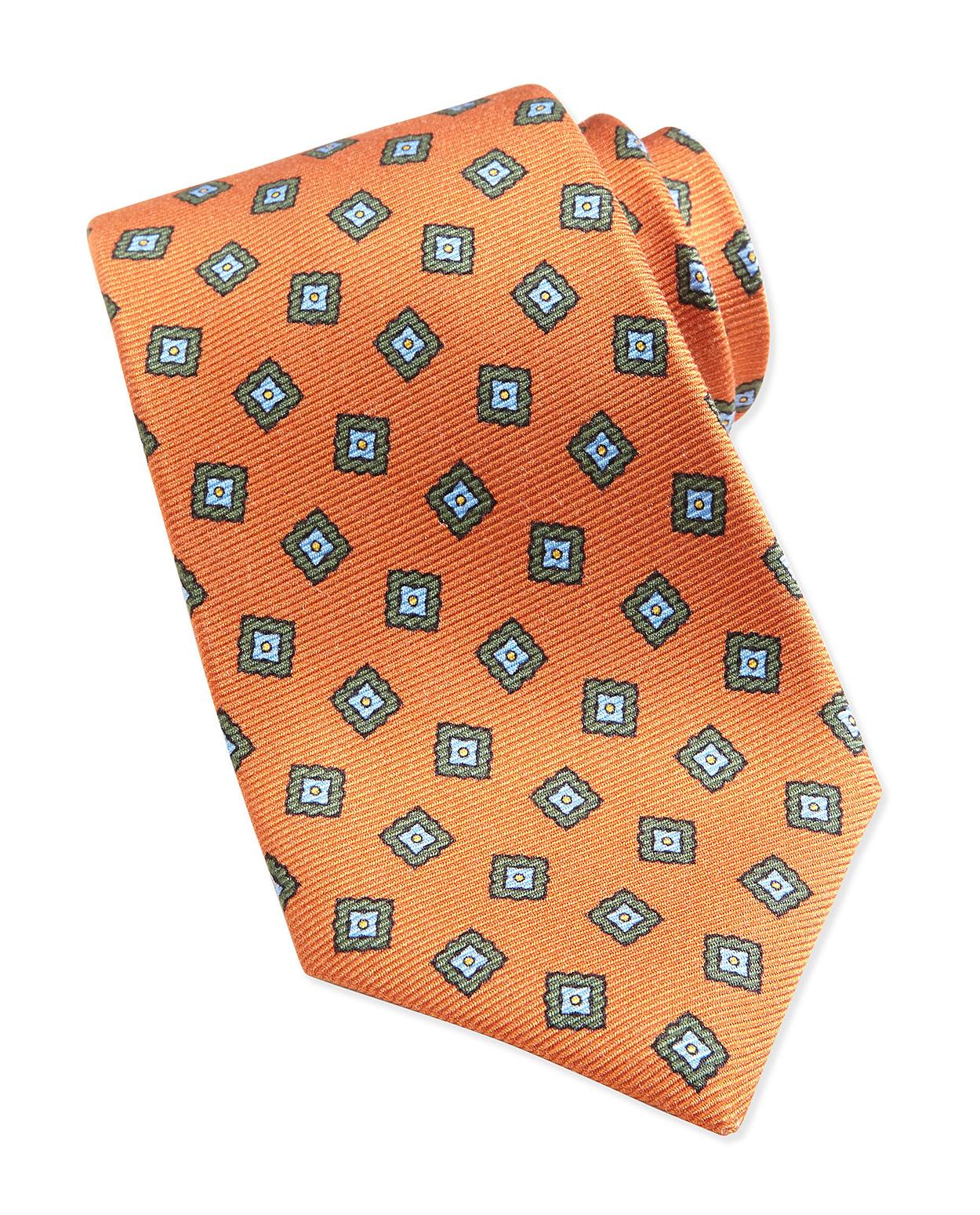 5b0110335670 Kiton Square Medallion Pattern Tie, Orange - on #sale 30% off @ #Bergdorf # Kiton