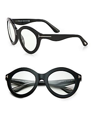 fc45f1513ed5 Tom Ford Eyewear Exaggerated 55mm Round Optical Glasses