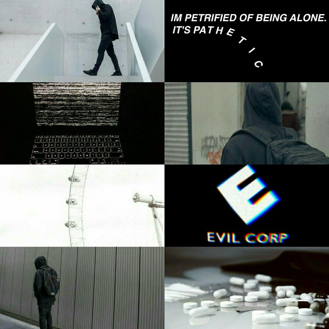 T-shirt Homme série tv usa hacker evil corp new york Fsociety Mr Robot