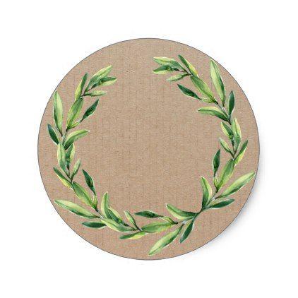 Handmade product vintage floral wreath craft classic round sticker sticker stickers custom unique cool diy