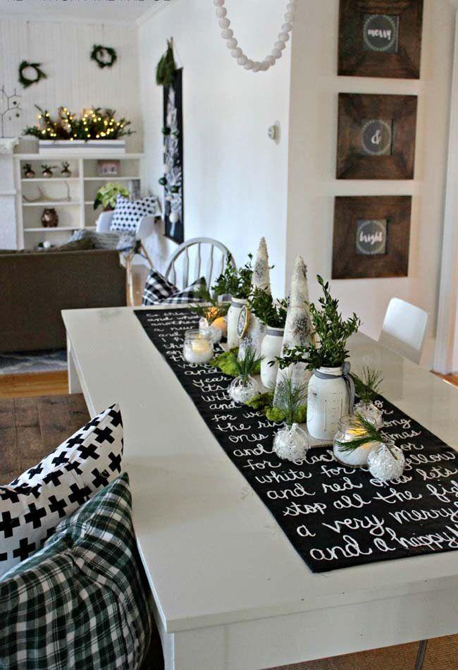 aqu tienes algunas ideas geniales para confeccionar caminos de mesa navideos realmente decorativos con ellos - Caminos De Mesa