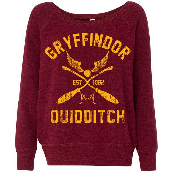 b21ddc7bf WOMEN'S GRYFFINDOR Sweatshirt Crewneck Romper. Harry Potter Hogwarts...  ($43) ❤ liked on Polyvore featuring tops, hoodies, sweatshirts, purple top,  ...