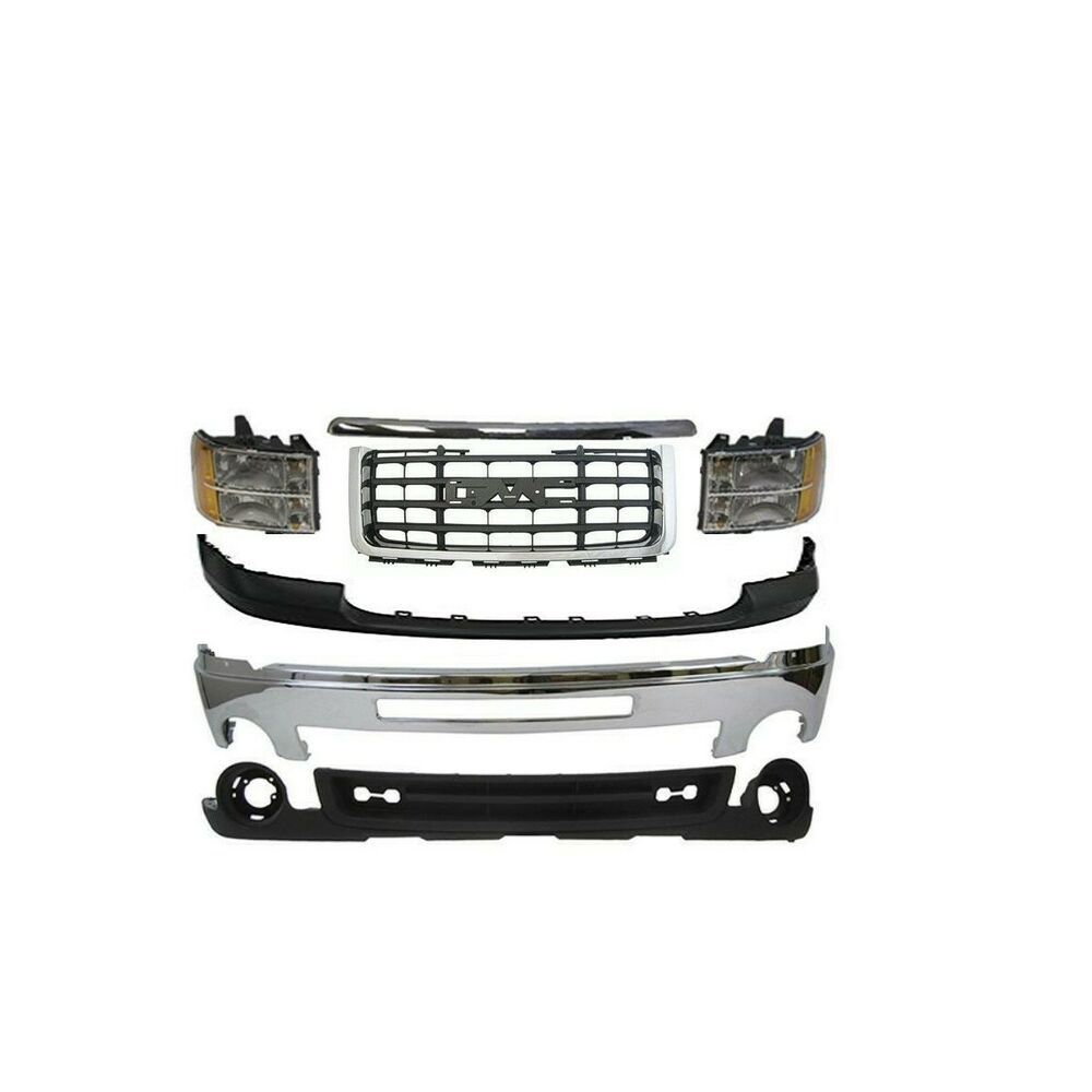 New Grille Bumper Headlamp Air Deflector Front For Gmc Sierra 2500