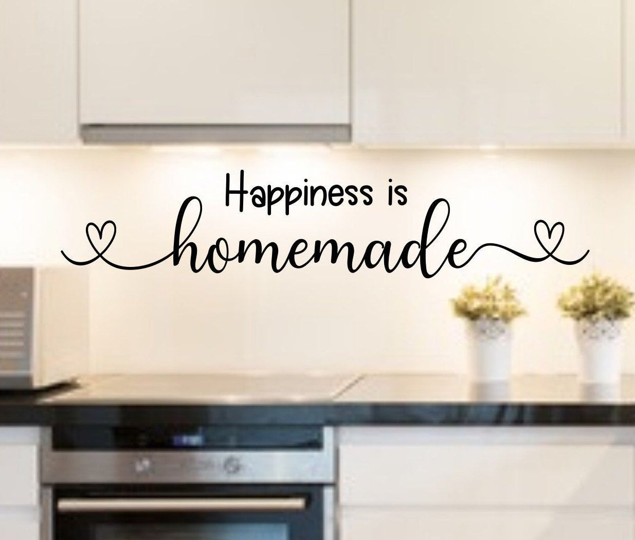 Happiness Is Homemade Kitchen Decal Kitchen Quotes Kitchen Wall