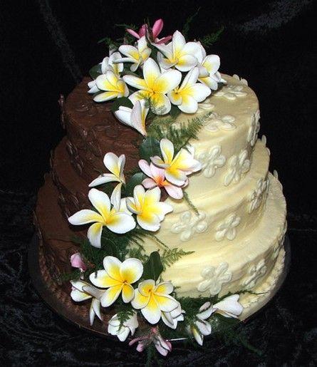 Cake Style Frangipani Wedding With Flowers