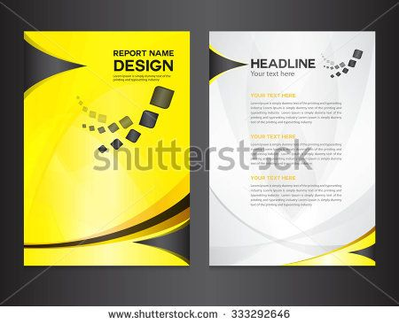 Yellow Annual report design vector illustration, cover template - annual report cover template